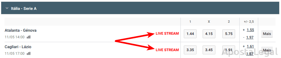 LiveStream Betano Portugal: Veja jogos de futebol, ténis e NBA em directo!