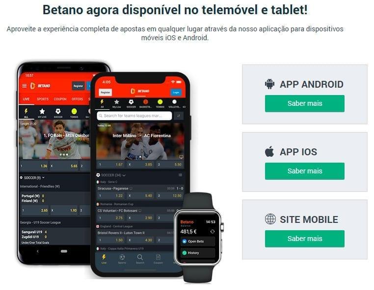 Betano app: Disponível para Android, ios e Site Mobile
