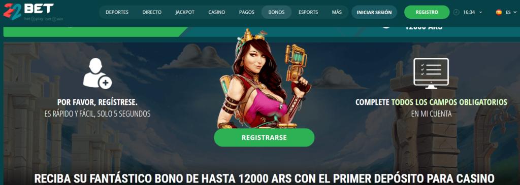 22bet uno de los mejores casinos online argentina con gran variedad de bonos.